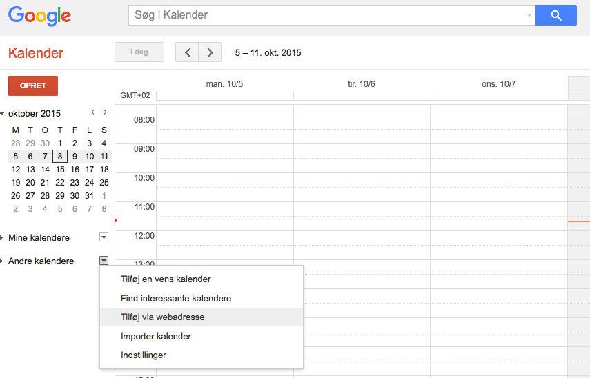 Synkronisering med Google kalender