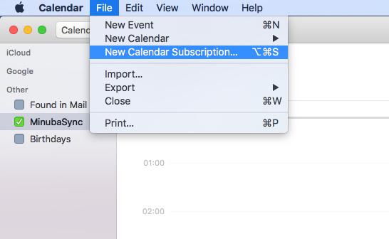 Synkronisering med Mac kalender