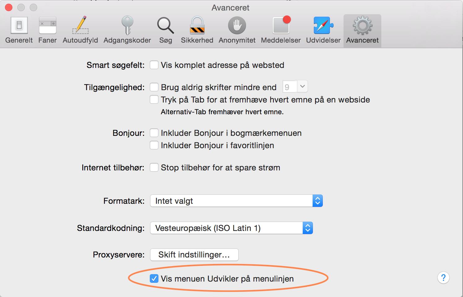Tøm buffer i Safari på Mac