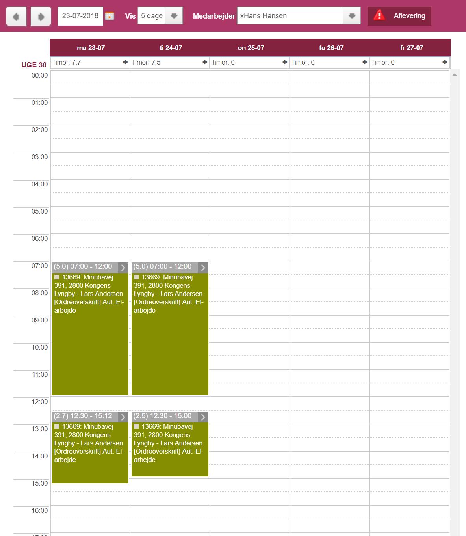 Min plan kalender