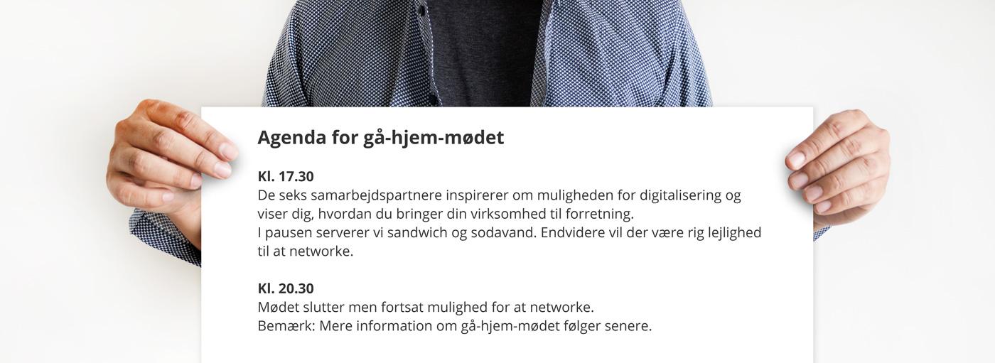 Agenda for Gå-hjem-mødet: Fra virksomhed til forretning!