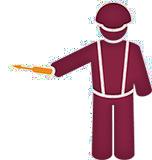 Mand med skruetrækker med styr på sine elektroniske arbejdssedler