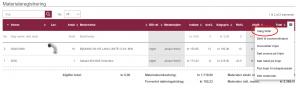Materialeregistrering: Vælg felter