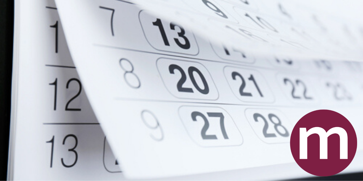 Billede af en kalender