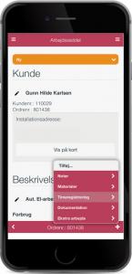 Billede af sagsstyring i app