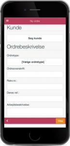 Ordrestyring og ordrehåndtering på mobilen