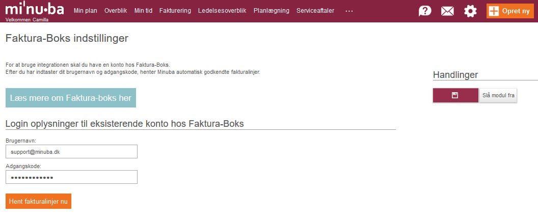 Faktura-Boks e-faktura