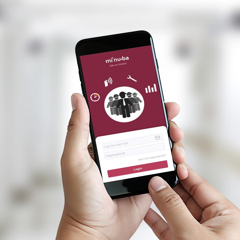 Minuba app på smartphone