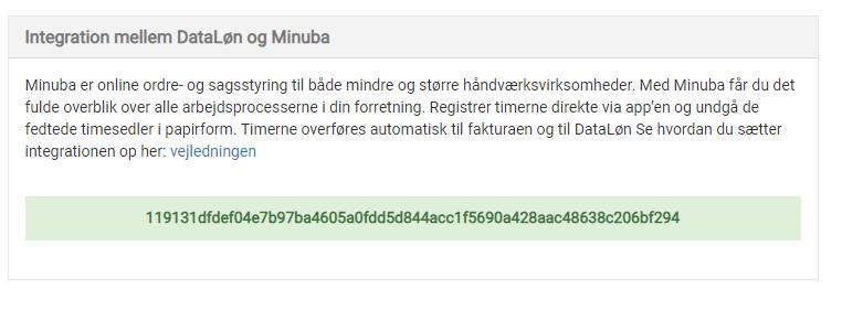 Dataløn integration API