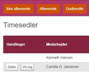 timesedler