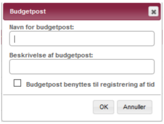 Budgetposter